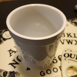White Kitchen Utensil Holder/Crock